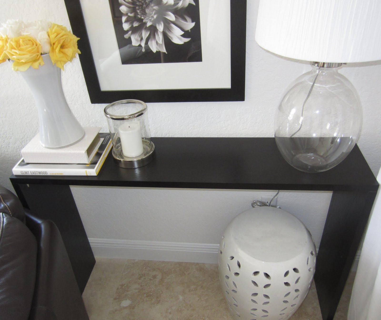 Sleek Console Table Ikea Hackers