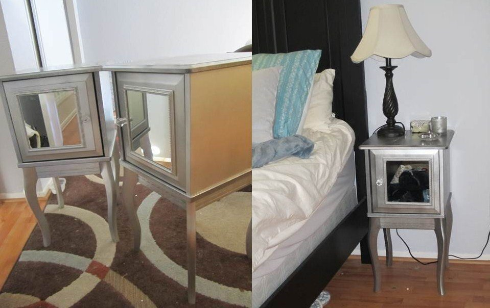 Ikea Hack Edland Night Stand Mirrored Look