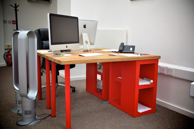 Solid oak desk for a designer