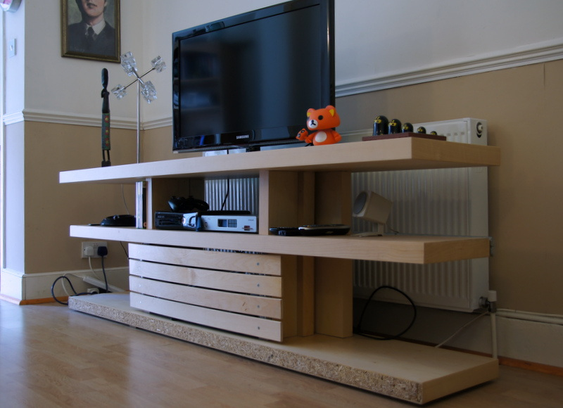 Optimalm Prime Malm Bed Base Transformed Into A Tv Unit Ikea Hackers