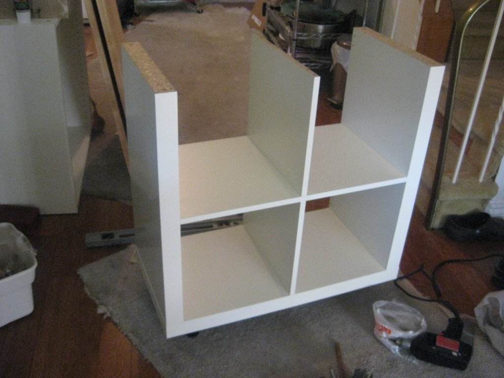 Ikea Kitchen Island Hack expedit rolling kitchen island - ikea hackers - ikea hackers