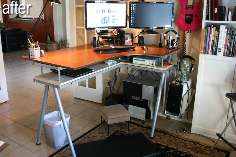 galant standup desk and rationell variera monitor stands