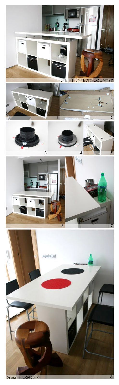 expedit kitchen counter to fulfill 3in1 functions  ikea