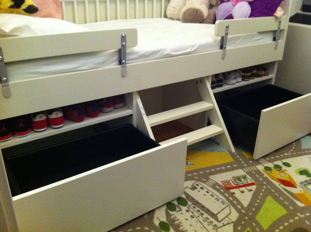 pocket hole platform bed with drawers