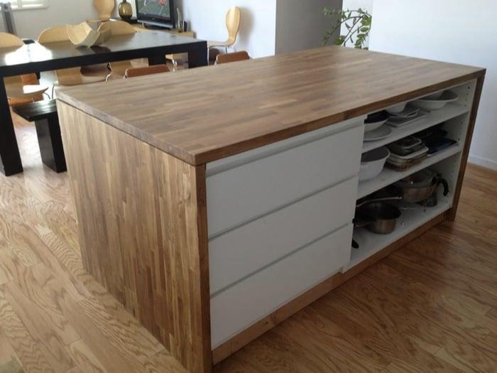 Malm Meets Numerar Kitchen Island, Diy Kitchen Island Using Ikea Cabinets