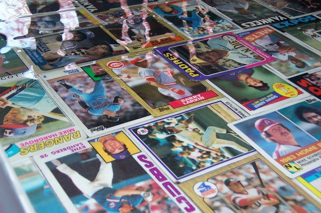 baseball card table