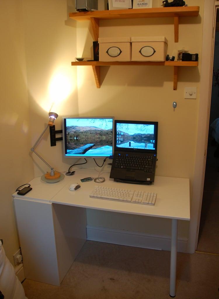 Inexpensive Coffee Tables Cupboard Door Folding Desk - IKEA Hackers - IKEA Hackers
