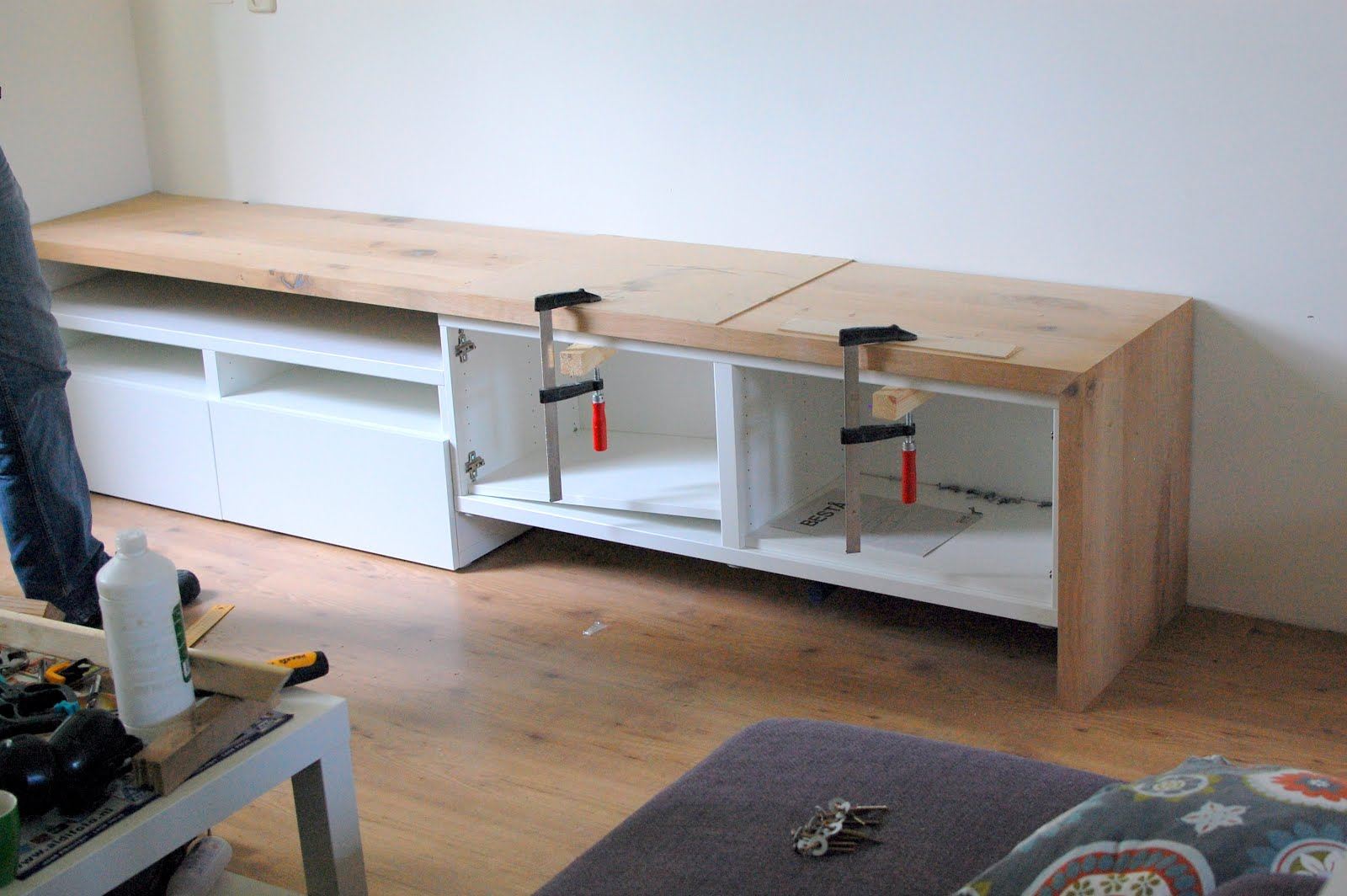 Delightful Besta Tv Stand With Seating Option