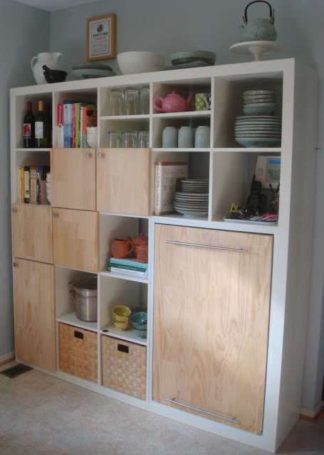 Expedit kitchen storage and counter ikea hackers ikea hackers - Transformer meuble ikea ...