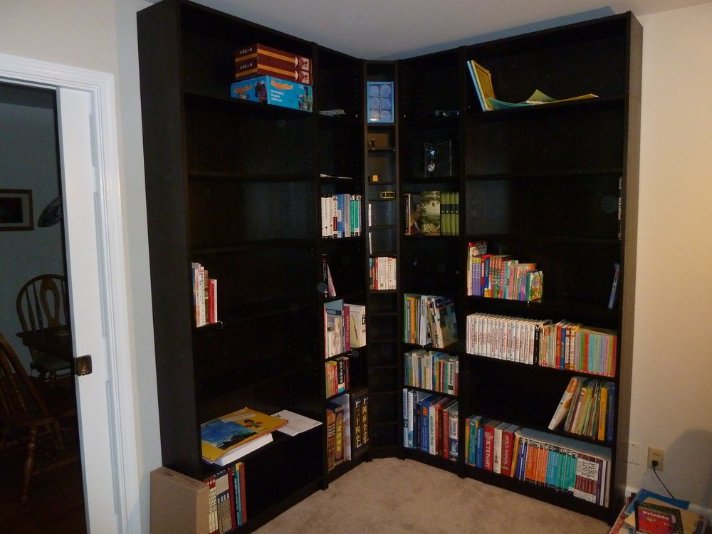 billy corner bookcase 2