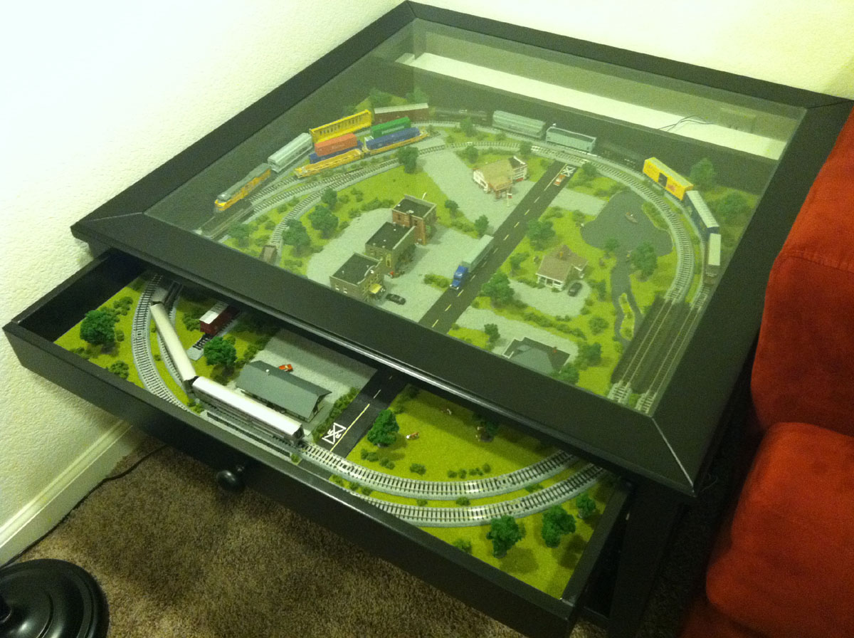 coffee table train layout plans
