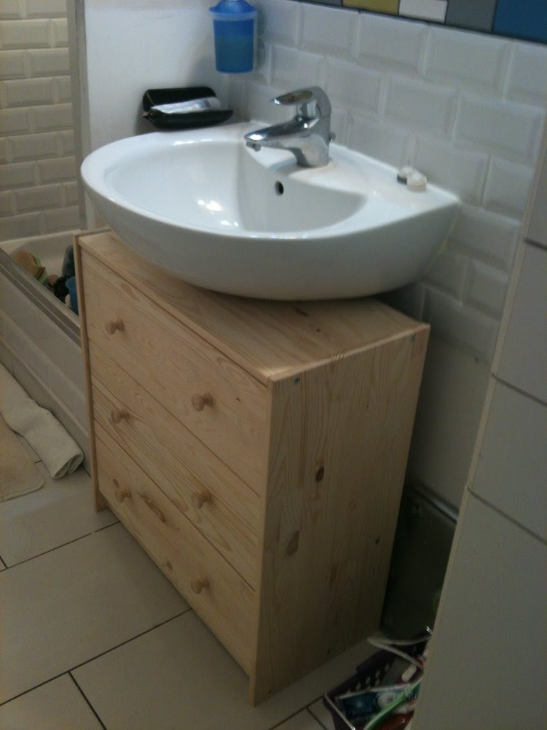 Bathroom sink units ikea - Turn A Chest Of Drawers Into A Vanity Unit