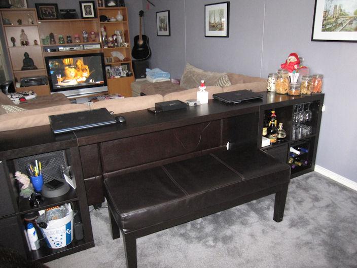 Expedit Sofa Table Bar Computer Desk