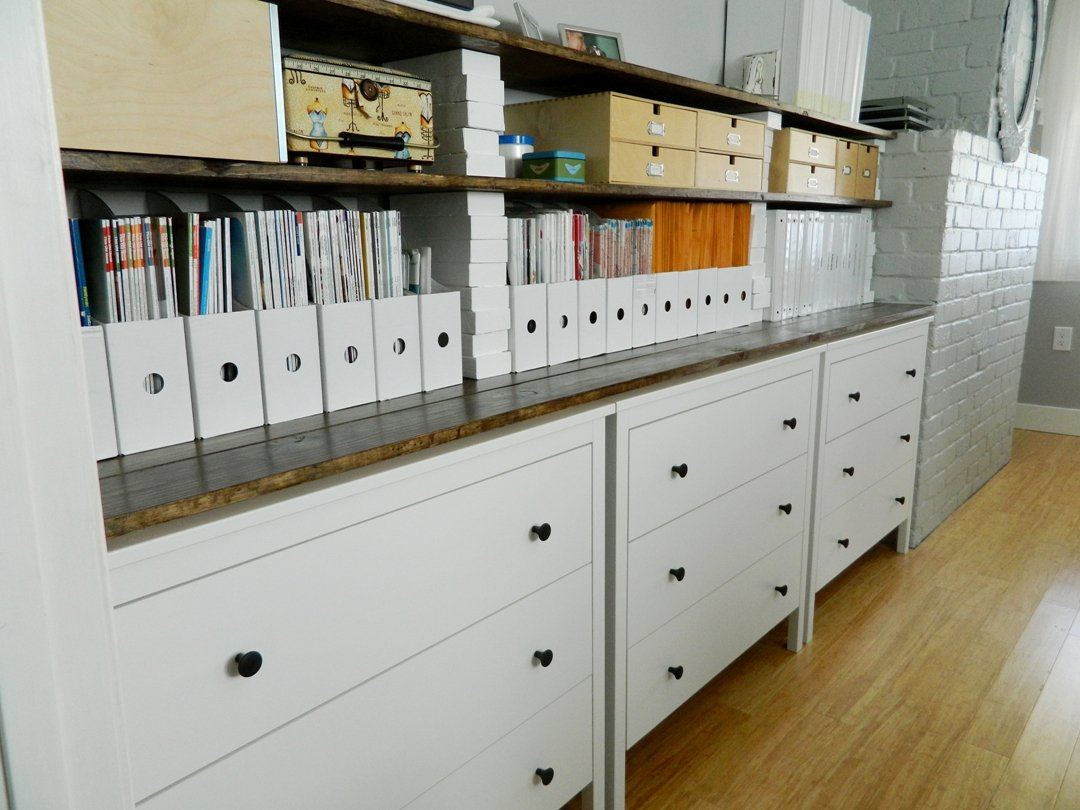 Koppang Dressers Plus Shelves For Office Sewing Room Storage