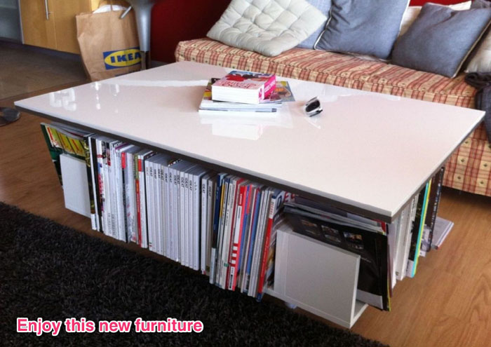 Epic Lillangen end unit as coffee table with storage