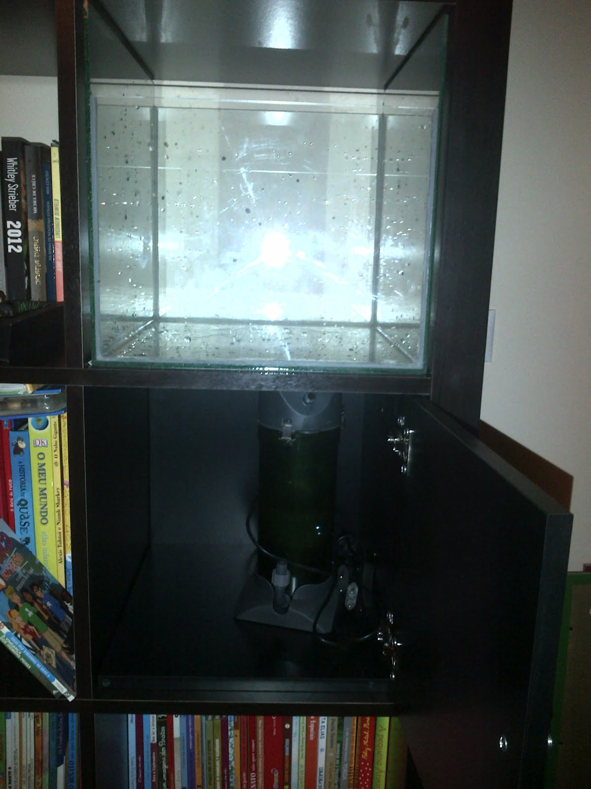 Ikea Grundtal Kitchen Series ~   aquarium to put the filter and other stuff needed for the aquarium to