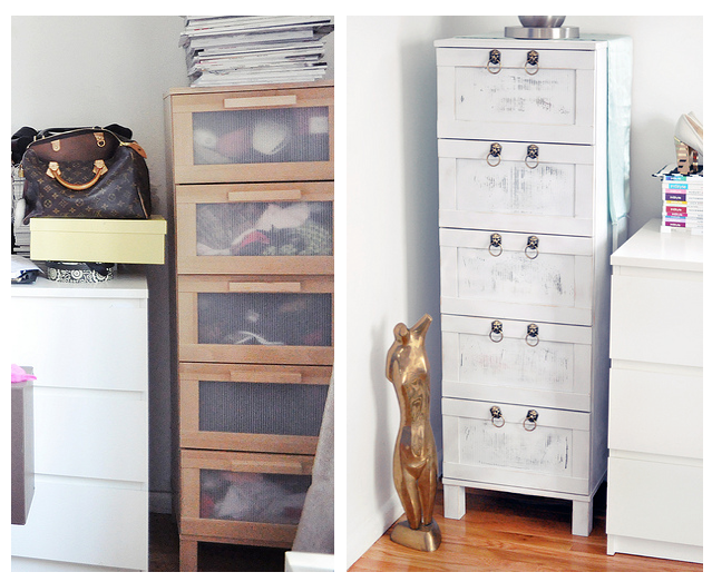 Minnen Toddler Bed From Ikea ~ Boring Birch Ikea Chest of Drawers Makeover From Drab to Fab  IKEA