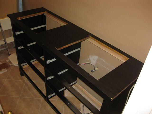 Kohler IKEA Hemnes vanity