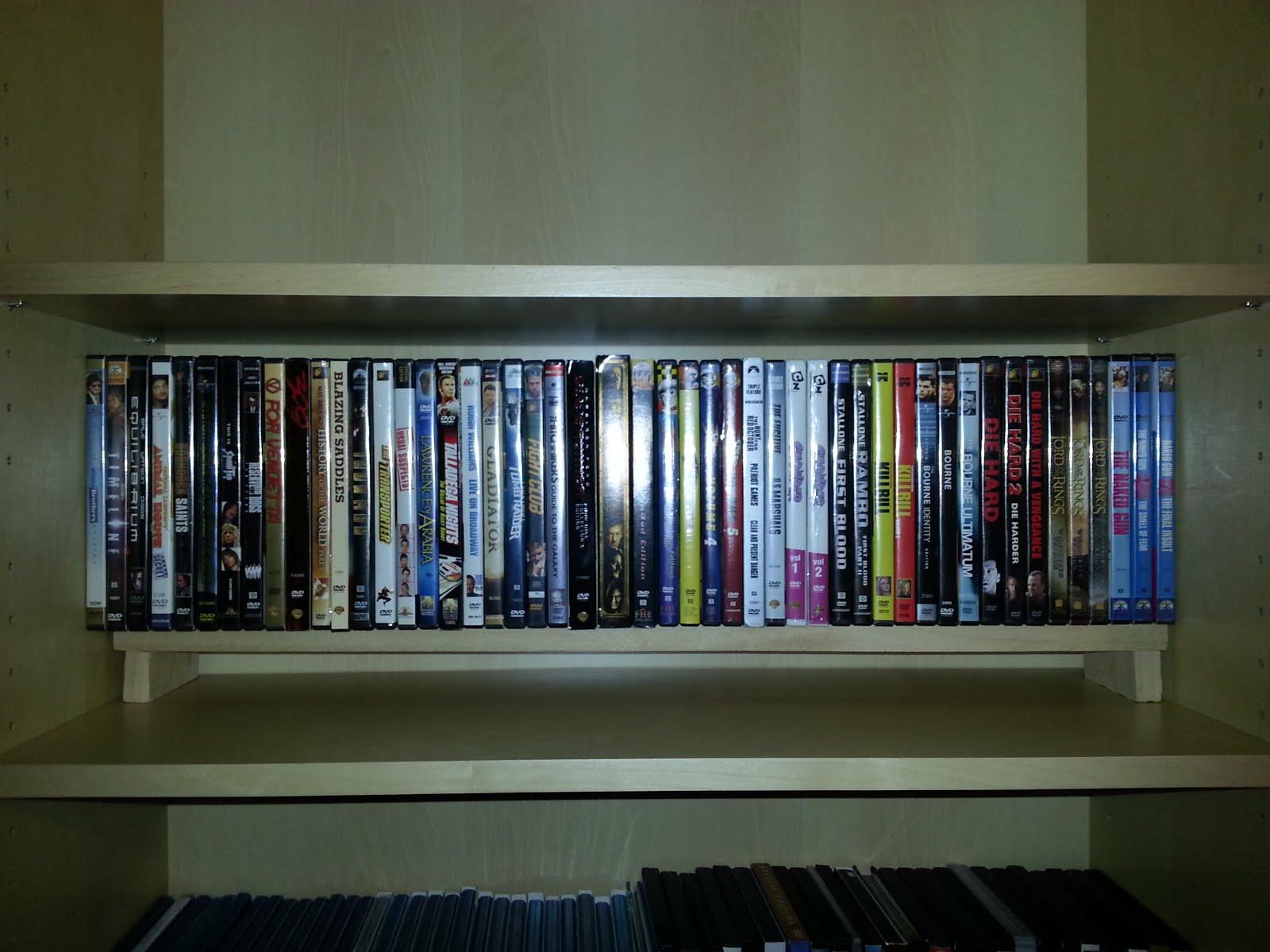Billy Bookshelf DVD Shelves - IKEA Hackers - IKEA Hackers