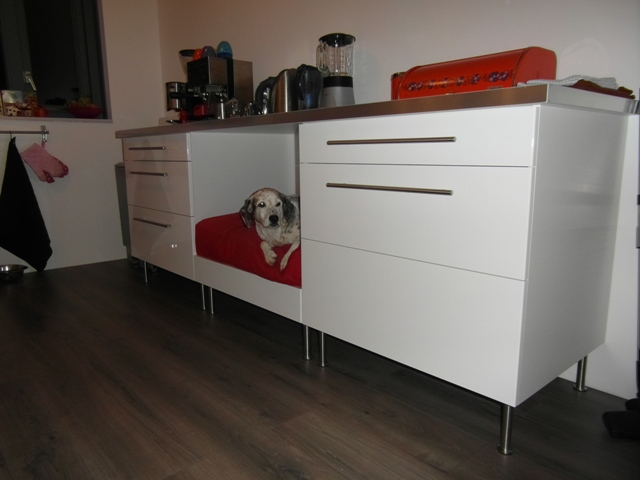 Ikea Poang Chair White Leather ~ Faktum kitchen dog bed  IKEA Hackers  IKEA Hackers