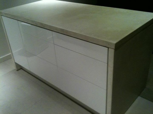 Ikea Kitchen Island With Drawers ~   concrete wrapped Ikea kitchen island  IKEA Hackers  IKEA Hackers