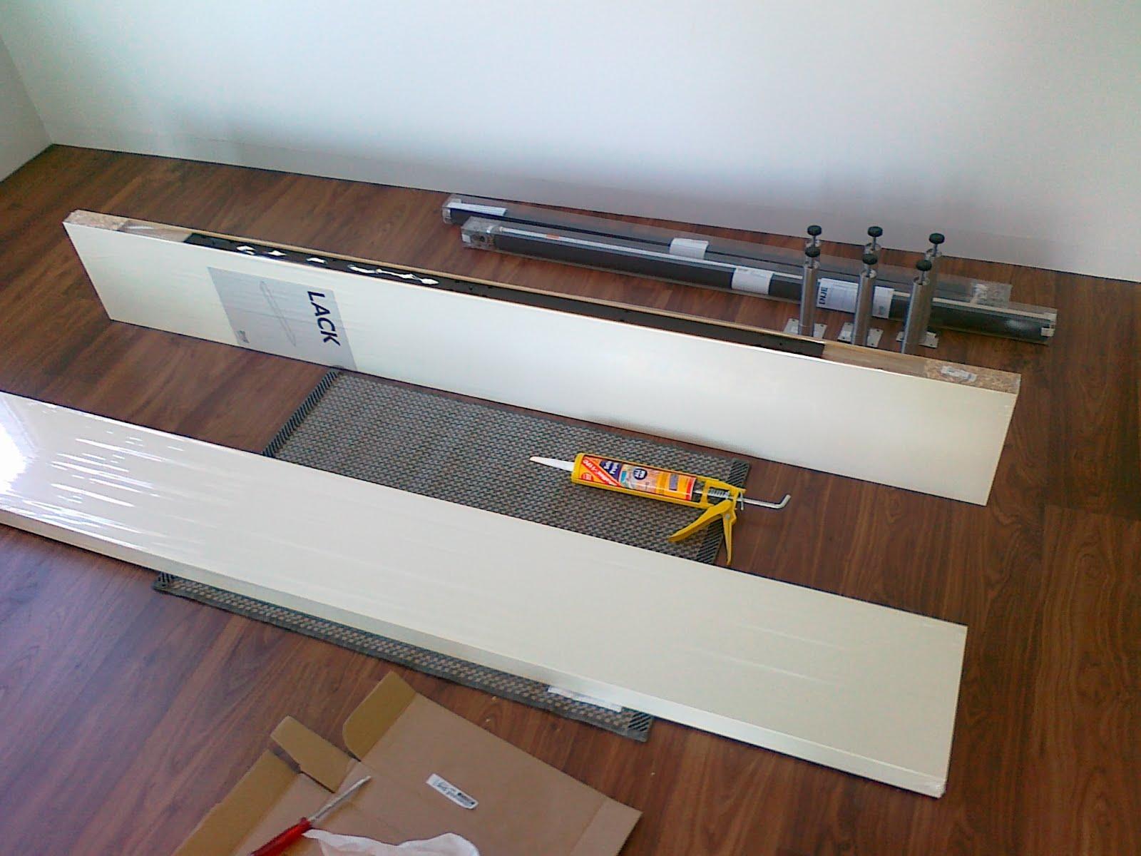 Ikea Lack Shelf Hack Lack Shelf Into Minimalist Media Stand Ikea Hackers Ikea Hackers