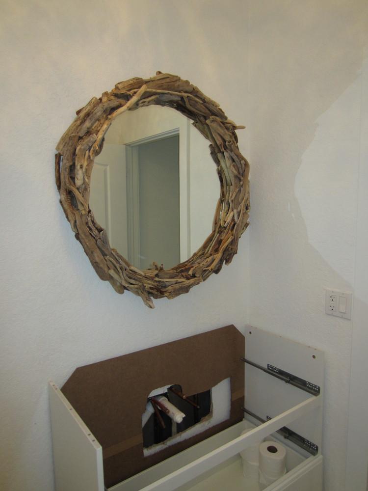 Drift Wood Mirror IKEA Hackers