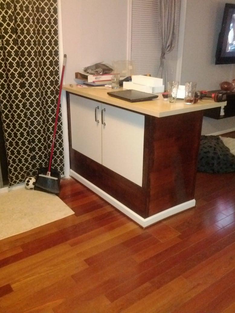Picture of: Varde Sink Cabinet Becomes Breakfast Bar Ikea Hackers