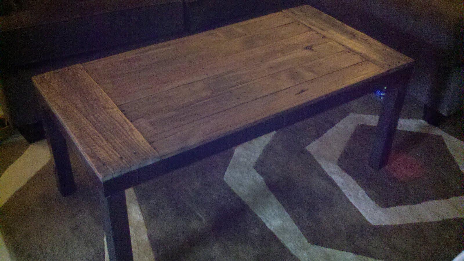 Ikea lacks made an awesome rustic coffee table ikea hackers ikea