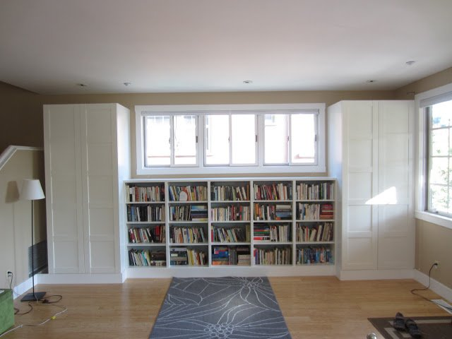 wall bookshelves