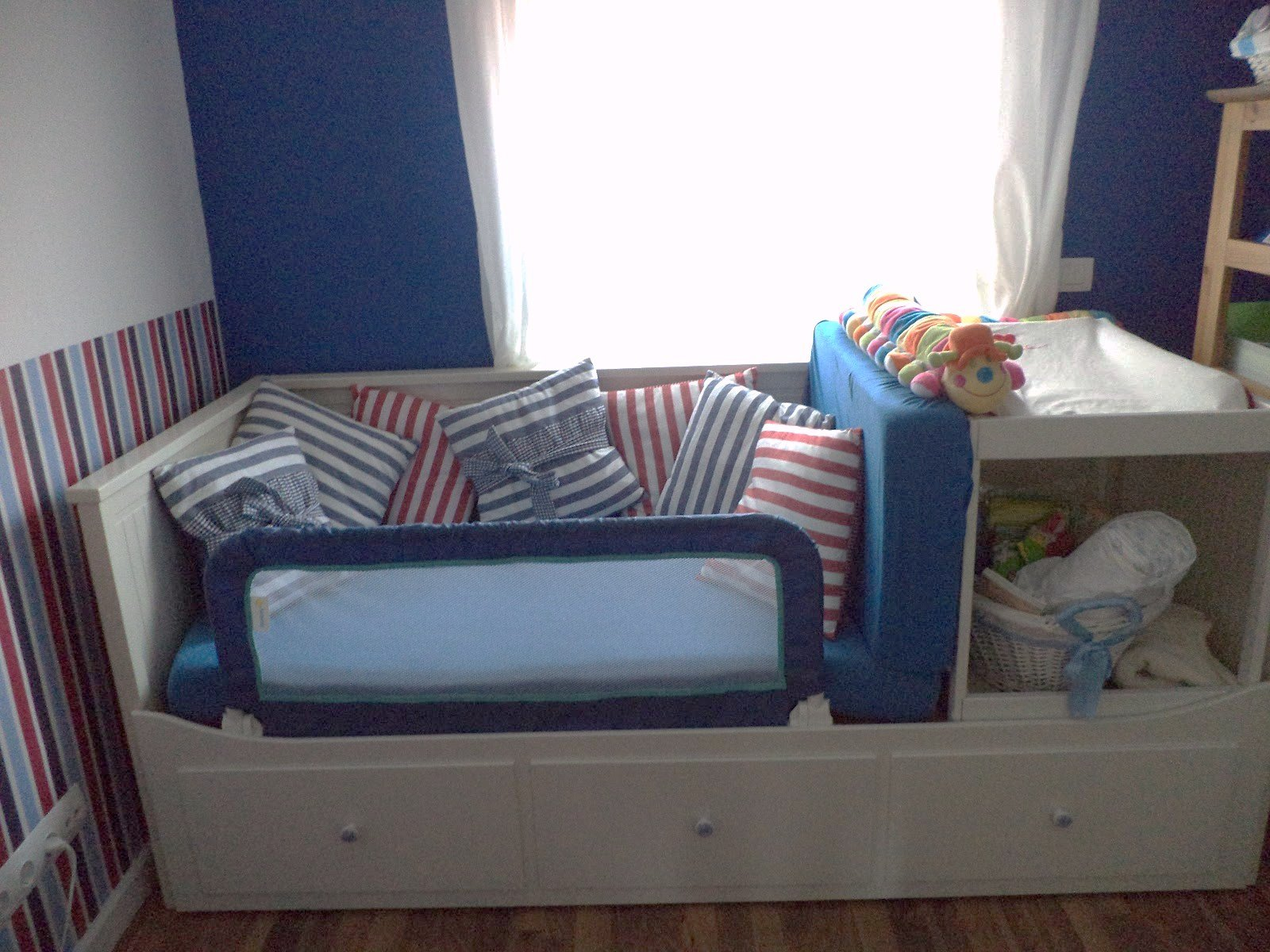 Guest bed makes space for baby changing table   ikea hackers ...