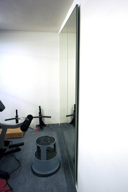 DIY Gym mirrors