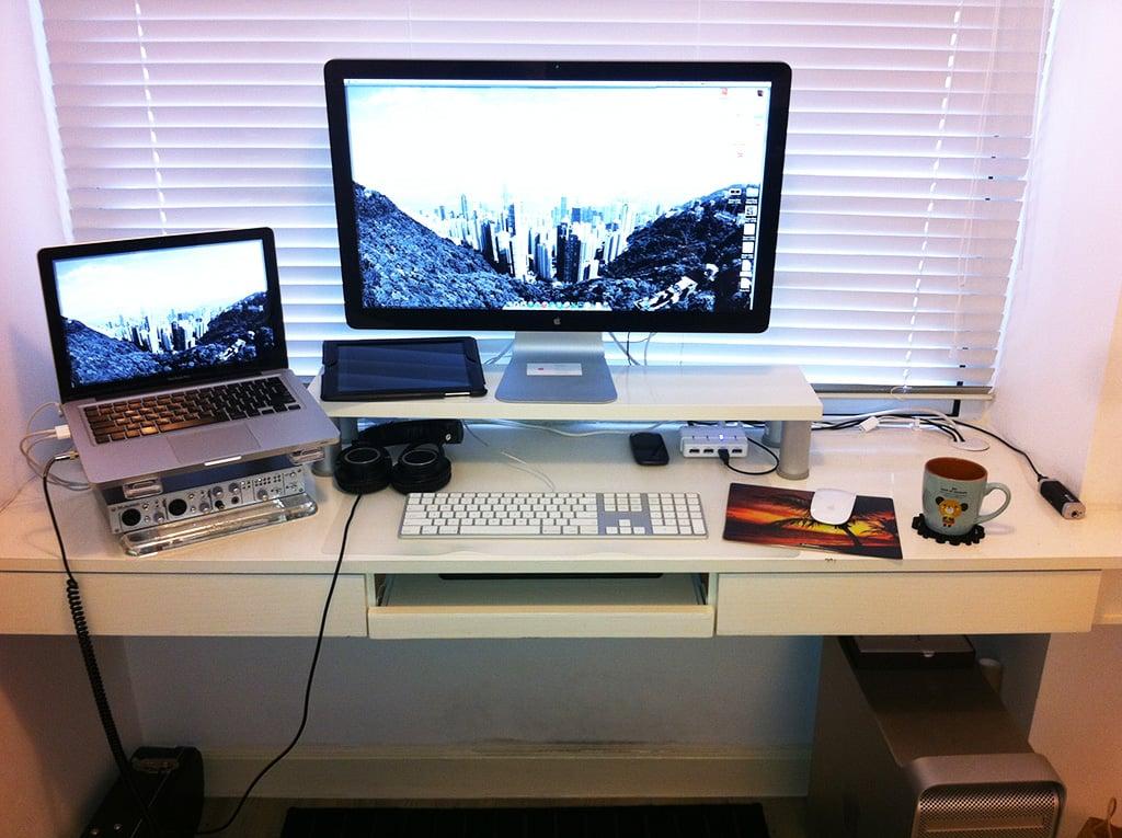 Apple Style Monitor Shelf IKEA Hackers