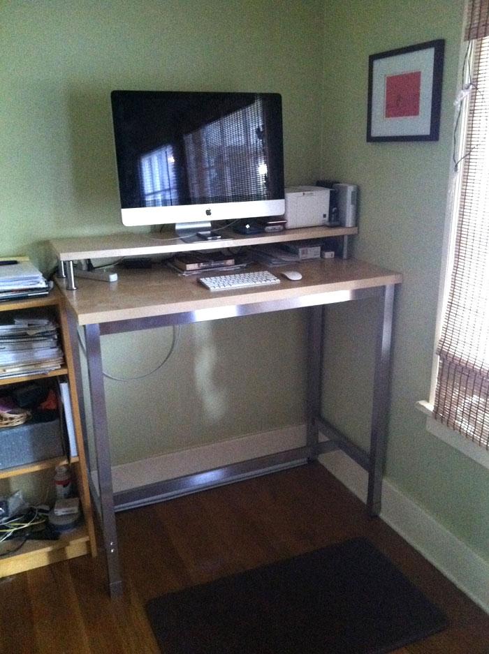 Standing desk with Utby legs - IKEA Hackers - IKEA Hackers