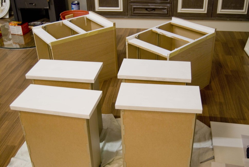 revamp of two malm nightstands - Ikea Malm Beige