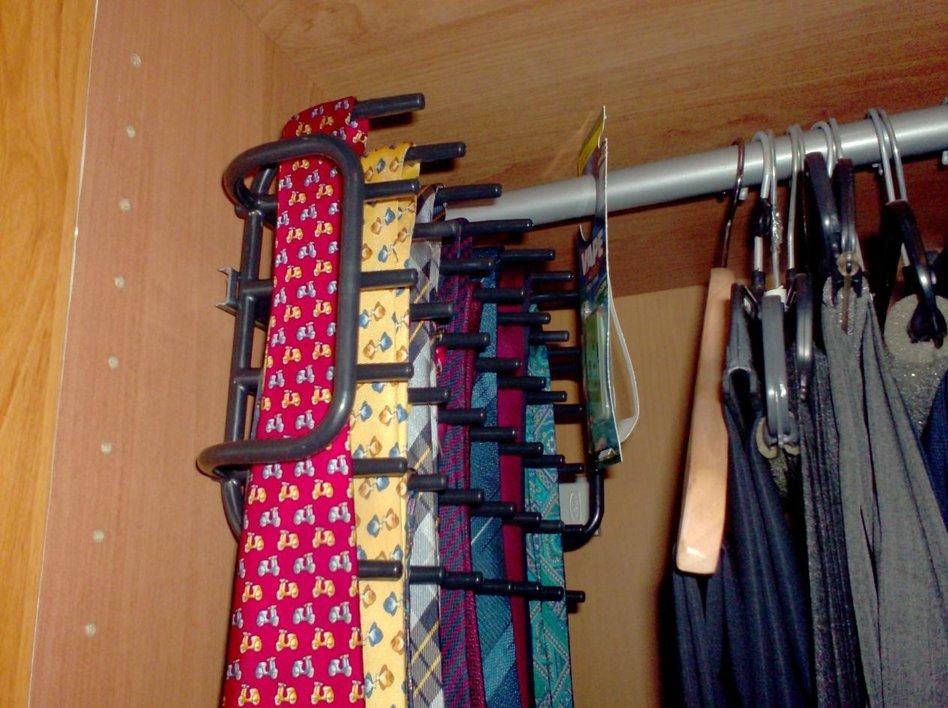 boholmen repurposed as tie rack