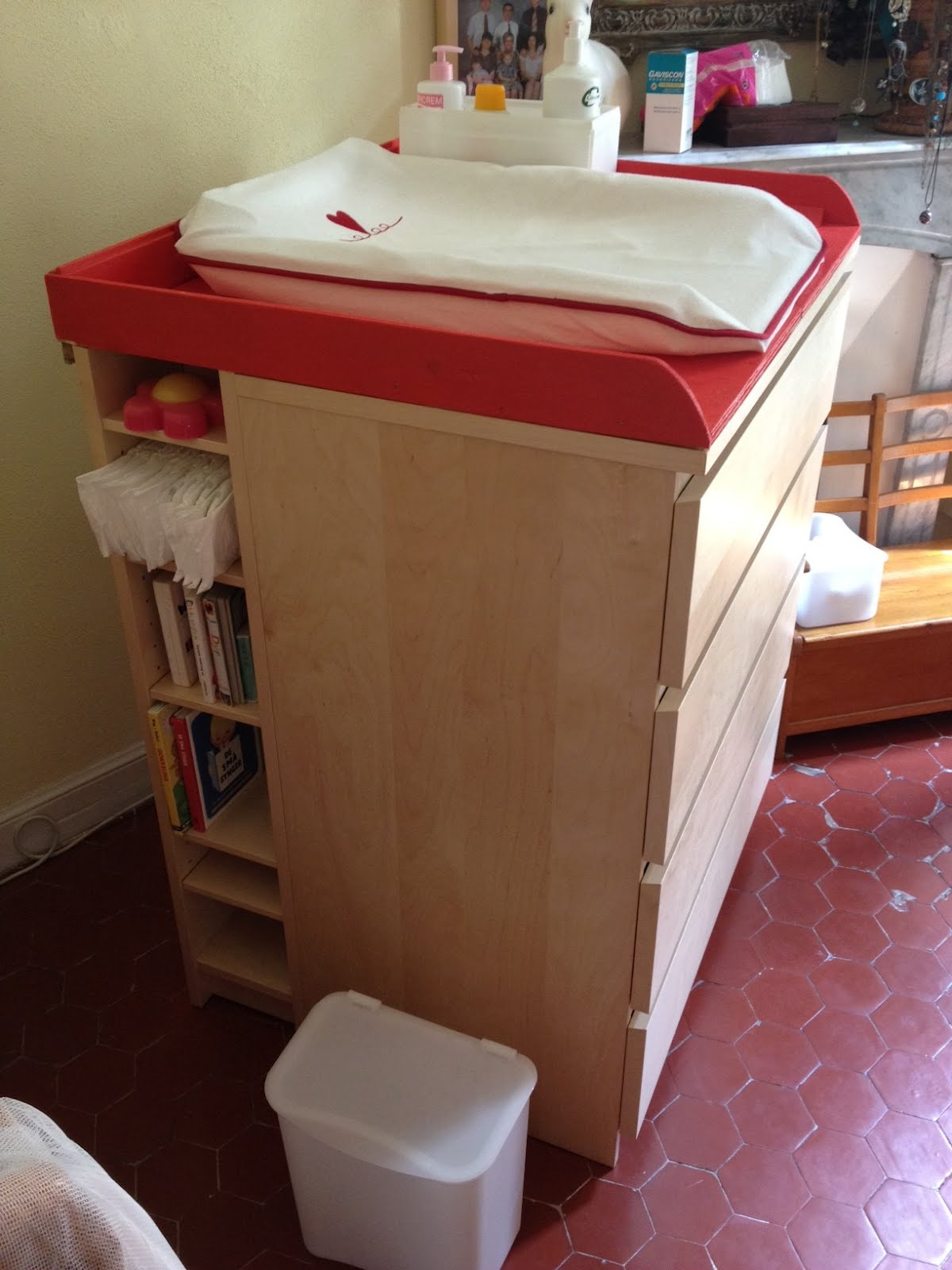 Picture of: Malm Benno Baby Changing Table Ikea Hackers