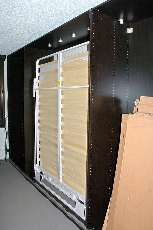 pax murphy bed with sliding doors