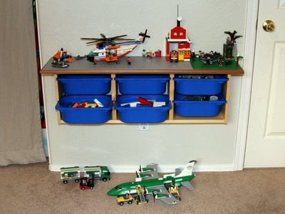 Hanging Lego Table from Ikea