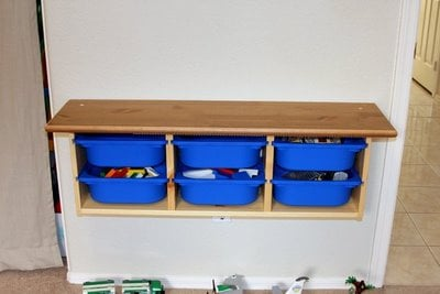 LEGO activity table - Smooth work surface