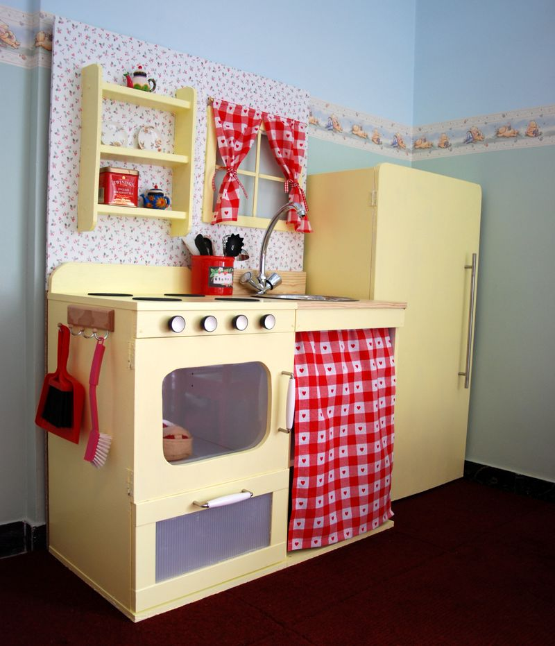 Wooden Play Kitchen Ikea vintage style play kitchen - ikea hackers - ikea hackers
