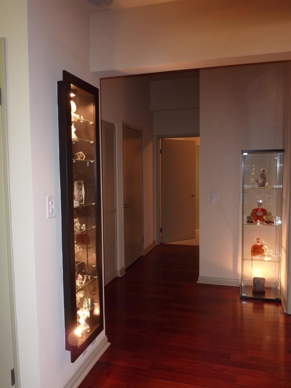 a recessed bertby display cabinet - ikea hackers - ikea hackers