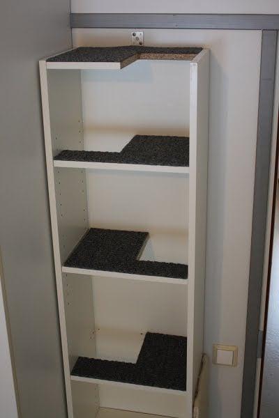 Cat climbing shelf in one compact Billy