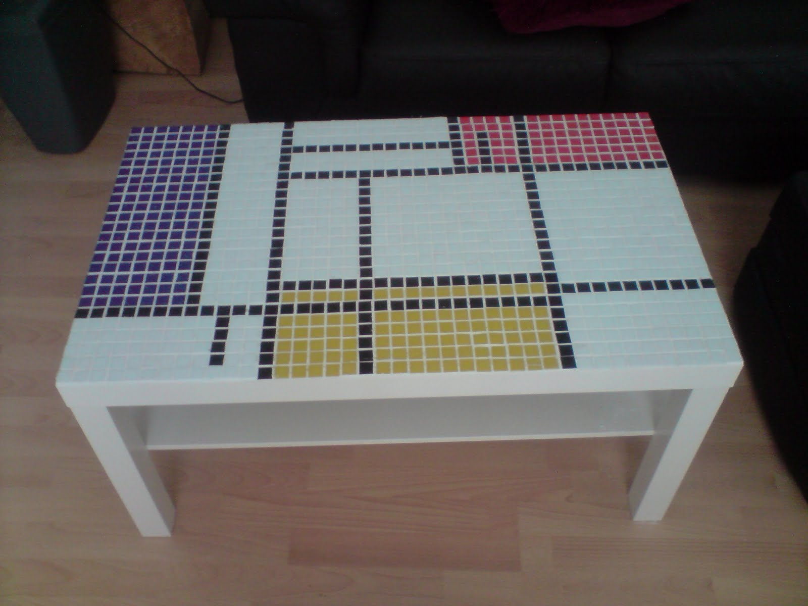 Mondrian coffee table IKEA Hackers IKEA Hackers