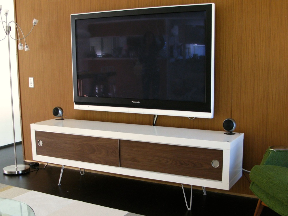 Entertainment center contemporary entertainment centers and tv stands - Lack Retro Media Cabinet Ikea Hackers Ikea Hackers
