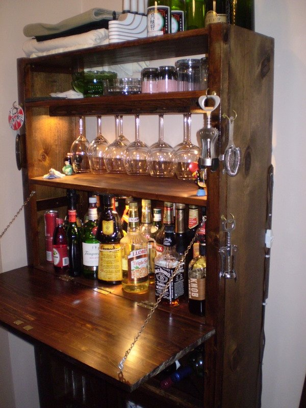 Have A Cocktail On An Ivar Bar. Ikea Basement Bar Cabinets