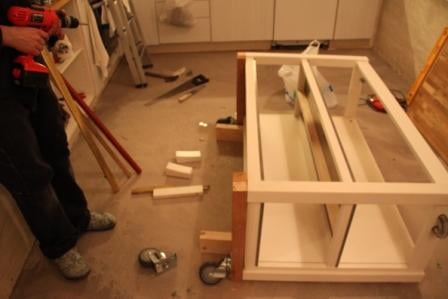 Kitchen Island On Wheels Add Casters To Stenstorp Ikea Hackers