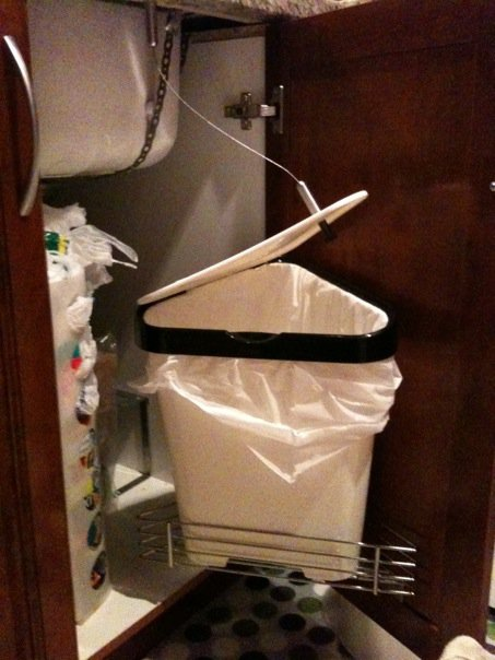 Ikea Leftover S Garbage Can With Auto Open Ikea Hackers