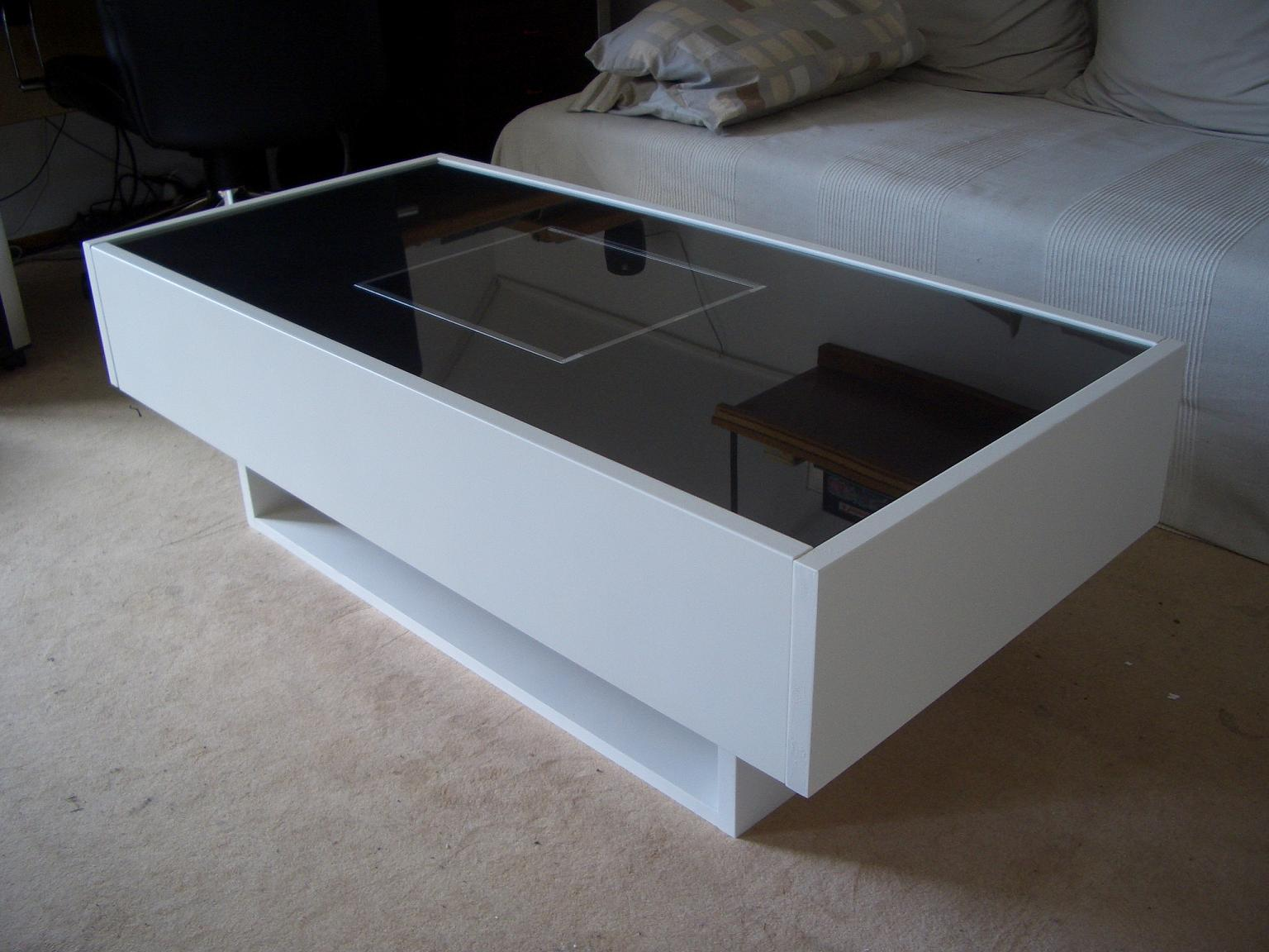 Ramvik tv and music console ikea hackers ikea hackers - Table basse blanche ikea ...