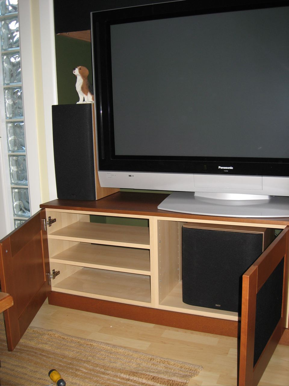 tv unit with subwoofer space ikea hackers ikea hackers